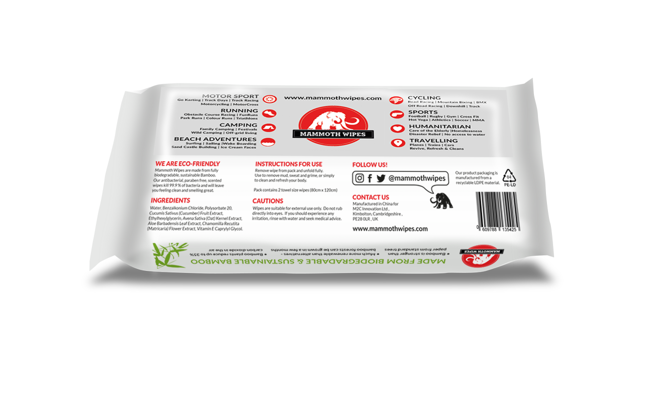 Mammoth Wipes NEW DESIGN back